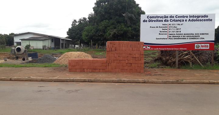 Início da obra de construção do Centro Integrado de Direitos da Criança e do Adolescente
