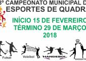 Semi final de Futsal em duas modalidades acontecerá nesta sexta feira no Ginásio Municipal