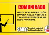 COMUNICADO DA SECRETARIA DE EDUCAÇÃO