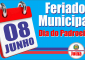 Sexta dia 8 de junho é feriado municipal em comemoração ao Padroeiro da cidade