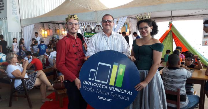 BIBLIOTECA DE JUÍNA MARCA PRESENÇA NO II CONGRESSO DIOCESANO DA FAMÍLIA