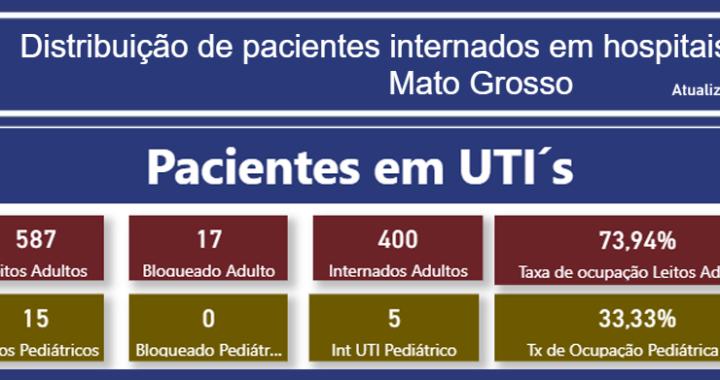 INFORME: TAXA DE OCUPAÇÃO DE LEITOS ADULTOS EM MATO GROSSO - 28-07-21
